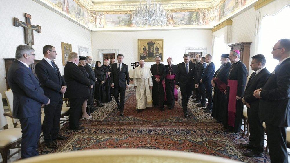 Roma: Danko e Vondráček incontrano Papa Francesco