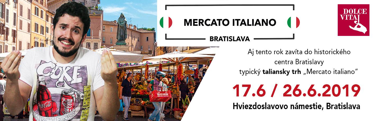 """Bratislava sa ponorila do talianskych chutí a vôní: začal sa """"Mercato italiano"""""""