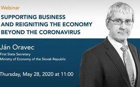 WEBINÁR: Podpora podnikania a naštartovanie ekonomiky po koronavíruse